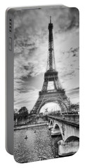 Bridge To The Eiffel Tower Portable Battery Charger