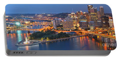 Bridge To The Pittsburgh Skyline Portable Battery Charger