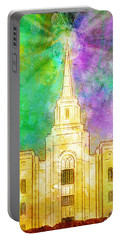 Portable Battery Charger featuring the painting The Heavens Were Opened by Greg Collins
