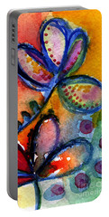 Bright Abstract Flowers Portable Battery Charger