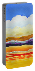 Portable Battery Charger featuring the painting Bright As A Cumulus Cloud by Dan Whittemore