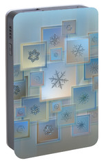 Portable Battery Charger featuring the photograph Snowflake Collage - Bright Crystals 2012-2014 by Alexey Kljatov
