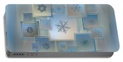 Snowflake Collage - Bright Crystals 2012-2014 Portable Battery Charger by Alexey Kljatov