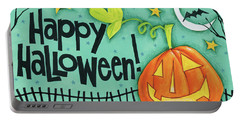 Bright Halloween I Portable Battery Charger by Anne Tavoletti