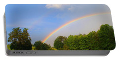 Portable Battery Charger featuring the photograph Bright Rainbow by Kathryn Meyer