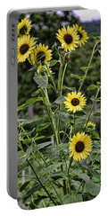 Bright Sunflowers Portable Battery Charger by Denise Romano