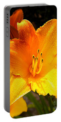 Bright Yellow Daylily Flower Portable Battery Charger