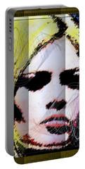 Portable Battery Charger featuring the digital art Brigitte Bardot by Daniel Janda