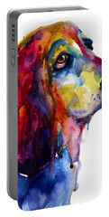 Brilliant Basset Hound Watercolor Painting Portable Battery Charger