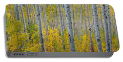Portable Battery Charger featuring the photograph Brilliant Colors Of The Autumn Aspen Forest by Cascade Colors