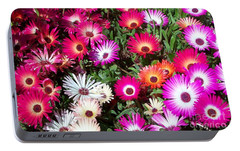 Portable Battery Charger featuring the photograph Brilliant Flowers by Chalet Roome-Rigdon