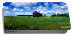 Brimley Farm Near  Sault Ste Marie Michigan  Portable Battery Charger by Tom Jelen