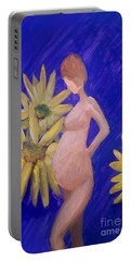 Portable Battery Charger featuring the painting Bringer Of Life by Marisela Mungia