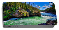 Portable Battery Charger featuring the photograph Brink Of Upper Falls by Greg Norrell