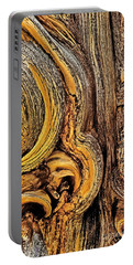 Portable Battery Charger featuring the photograph Bristlecone Pine Bark Detail White Mountains Ca by Dave Welling