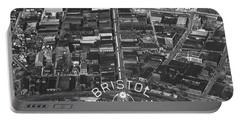 Bristol Virginia Tennessee Early Aerial Photo Portable Battery Charger