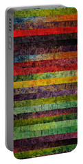 Brocade And Stripes Tower 1.0 Portable Battery Charger by Michelle Calkins