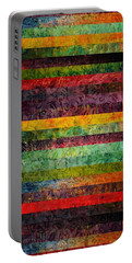 Brocade And Stripes Tower 2.0 Portable Battery Charger by Michelle Calkins