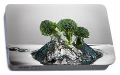 Broccoli Freshsplash Portable Battery Charger by Steve Gadomski