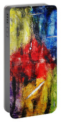 Portable Battery Charger featuring the painting Broken 4 by Michael Cross