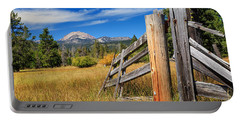 Broken Fence And Mount Lassen Portable Battery Charger