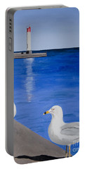 Bronte Lighthouse Gulls In Oil Portable Battery Charger