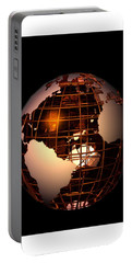 Portable Battery Charger featuring the digital art Bronze Globe... by Tim Fillingim