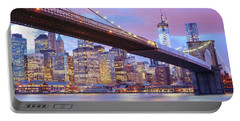 Brooklyn Bridge And New York City Skyscrapers Portable Battery Charger