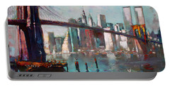 Brooklyn Bridge And Twin Towers Portable Battery Charger