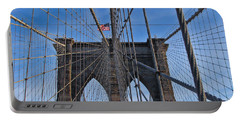 Portable Battery Charger featuring the photograph Brooklyn Bridge by David Gleeson