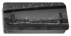 Brooklyn Bridge Frames Manhattan Bw Portable Battery Charger
