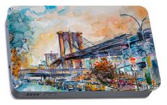 Brooklyn Bridge Portable Battery Charger by Kovacs Anna Brigitta