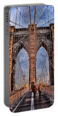 Portable Battery Charger featuring the photograph Brooklyn Bridge by Paul Fearn
