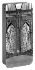 Brooklyn Bridge Promenade Portable Battery Charger by Underwood Archives