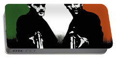 Portable Battery Charger featuring the painting Brothers Killers And Saints by Dale Loos Jr