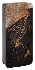 Brown And Gold Portable Battery Charger