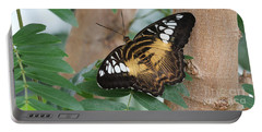 Portable Battery Charger featuring the photograph Brown Clipper Butterfly #5 by Judy Whitton