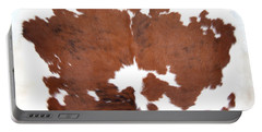 Brown Cowhide Portable Battery Charger
