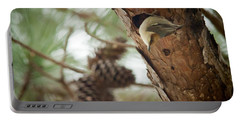 Brown Headed Nuthatch Portable Battery Charger by Linda Unger