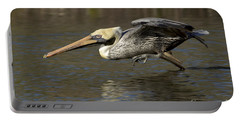 Portable Battery Charger featuring the photograph Brown Pelican Fishing Photo by Meg Rousher