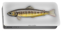 Brown Trout - Salmo Trutta Morpha Fario - Salmo Trutta Fario - Game Fish - Flyfishing Portable Battery Charger