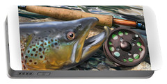 Brown Trout Sunset Portable Battery Charger