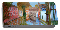 Brugge Canal Portable Battery Charger by Magdalena Frohnsdorff