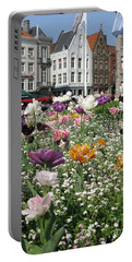 Portable Battery Charger featuring the photograph Brugge In Spring by Ausra Huntington nee Paulauskaite