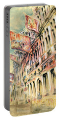 Brussels Grand Place - Watercolor Portable Battery Charger