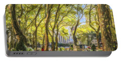Bryant Park October Morning Portable Battery Charger