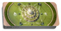Buckingham Fountain From Above Portable Battery Charger by Adam Romanowicz
