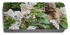 Budda And Begonias Portable Battery Charger by Denise Romano