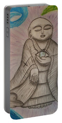 Buddha And The Eye Of The World Portable Battery Charger