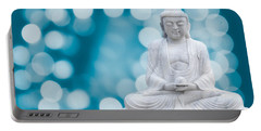 Buddha Enlightenment Blue Portable Battery Charger